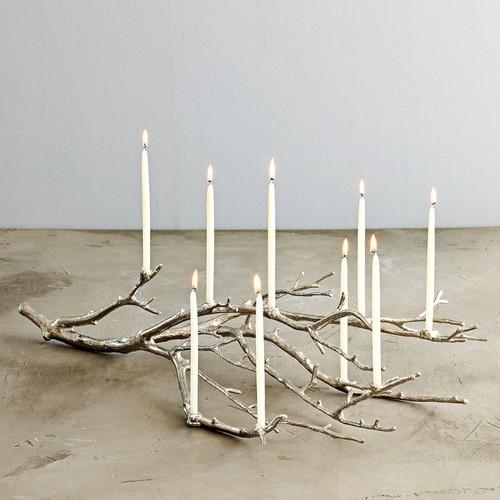 Manzanita Candelabra modern candles and candle holders