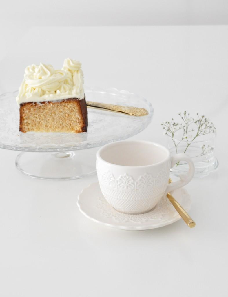 Cake de frosting de queso y vainilla