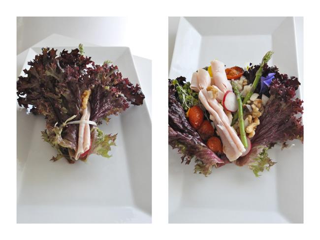Ensalada de flores en maceta