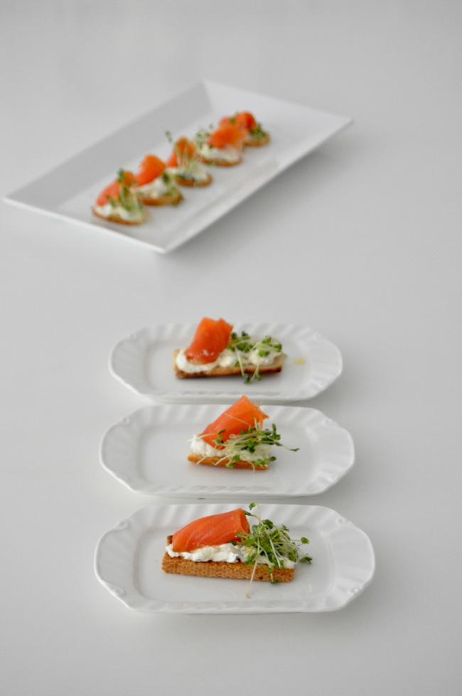 canapes de salmón