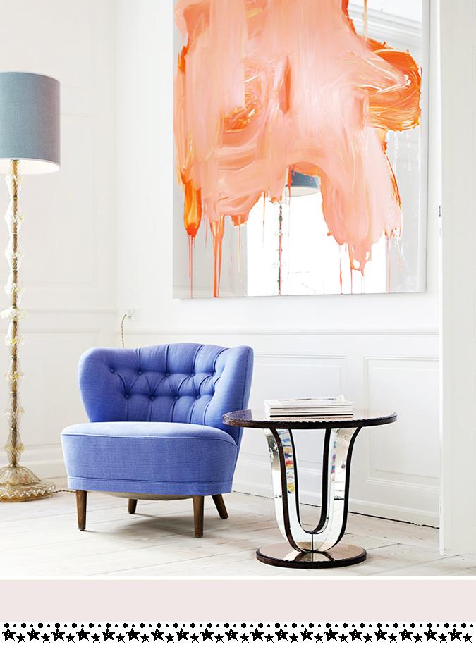 Sillon tapizado  azul