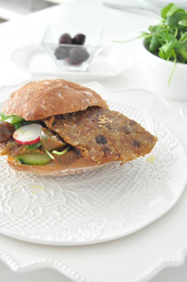 Bocadillo vegetal con Tofu