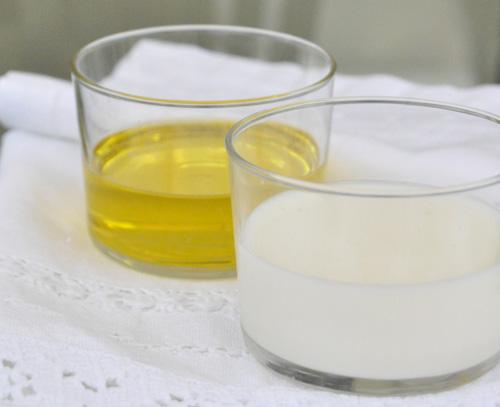 leche y aceite
