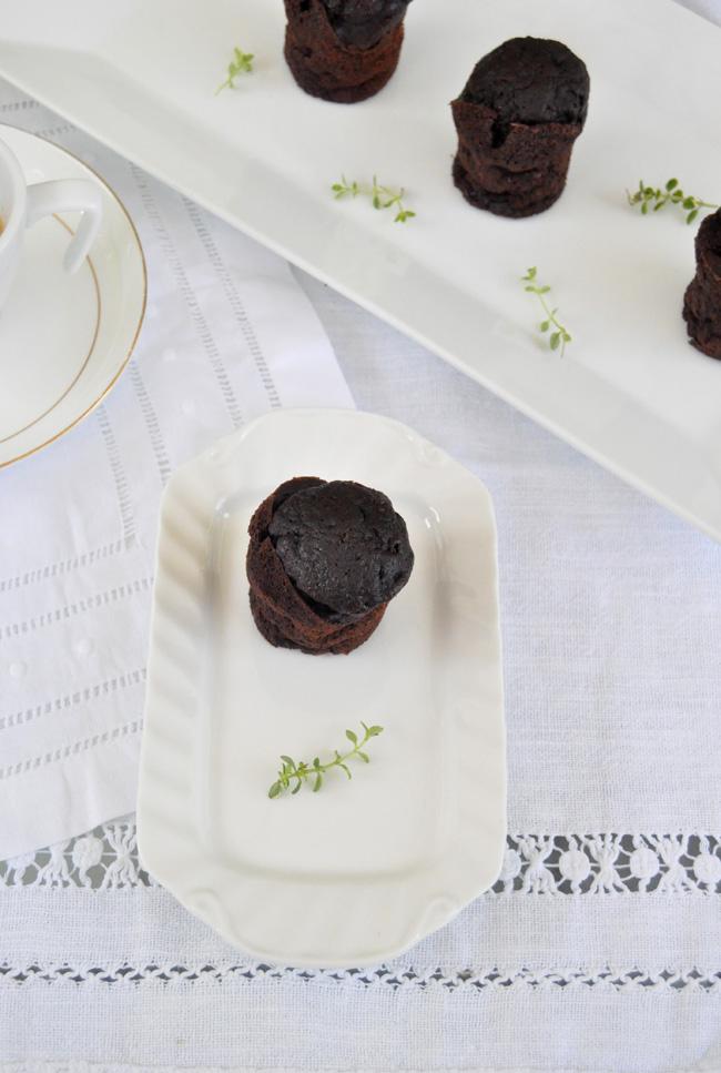 Muffins de chocolate intenso y plátano