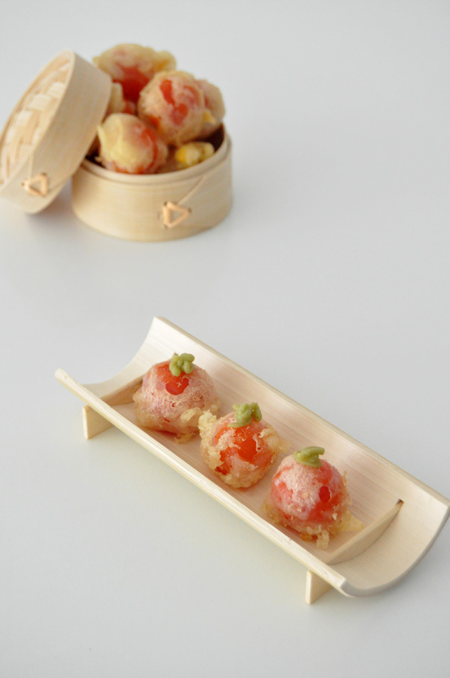 cherry con tempura y wasabi Dos Palillos