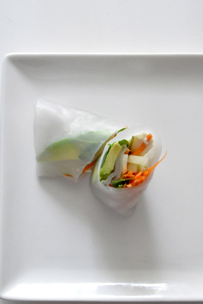 rollito de primavera vegano