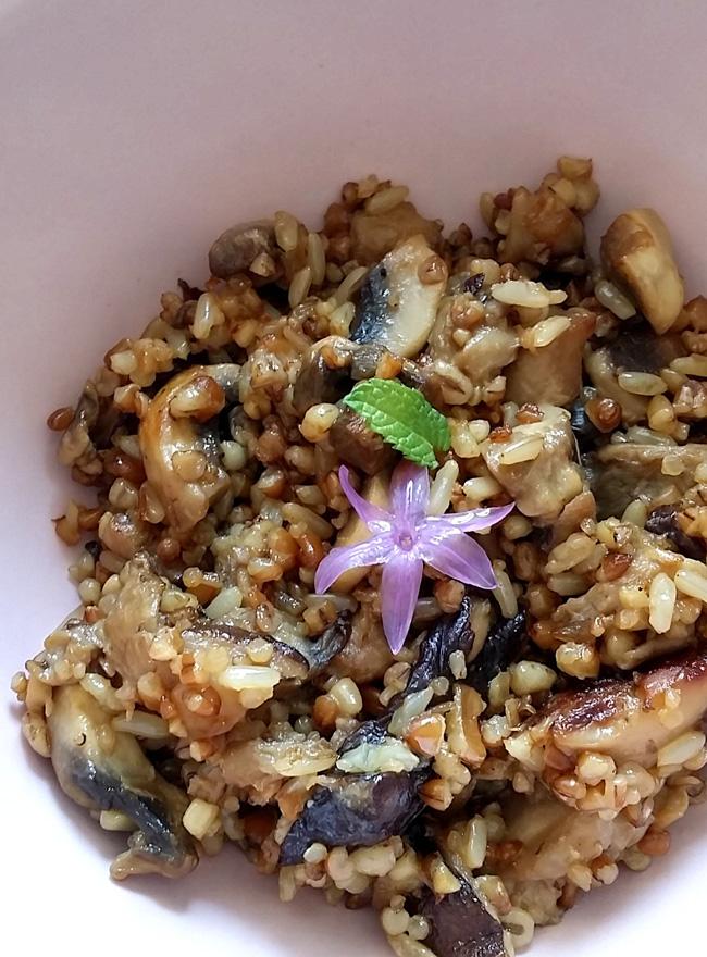 siiitake con quinoa