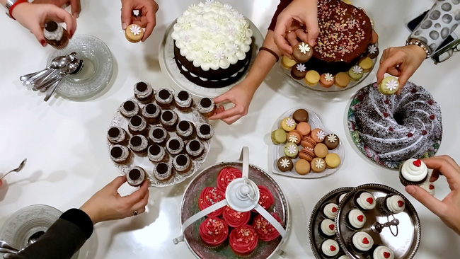 mesa de tartas Victorias Cakes