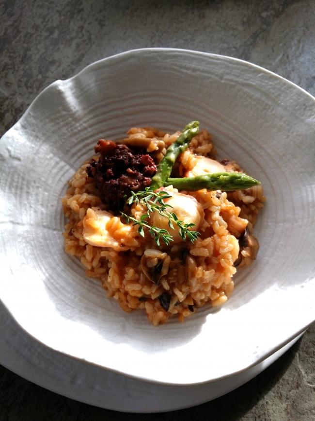 Receta de arroz mar y montaña