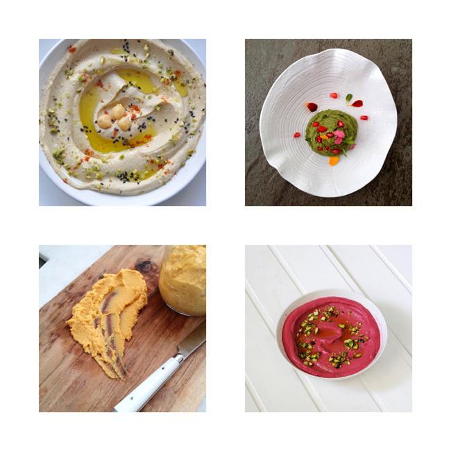 cuatro recetas de humus