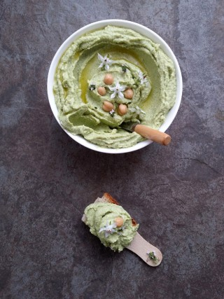humus de brócoli y anacardos