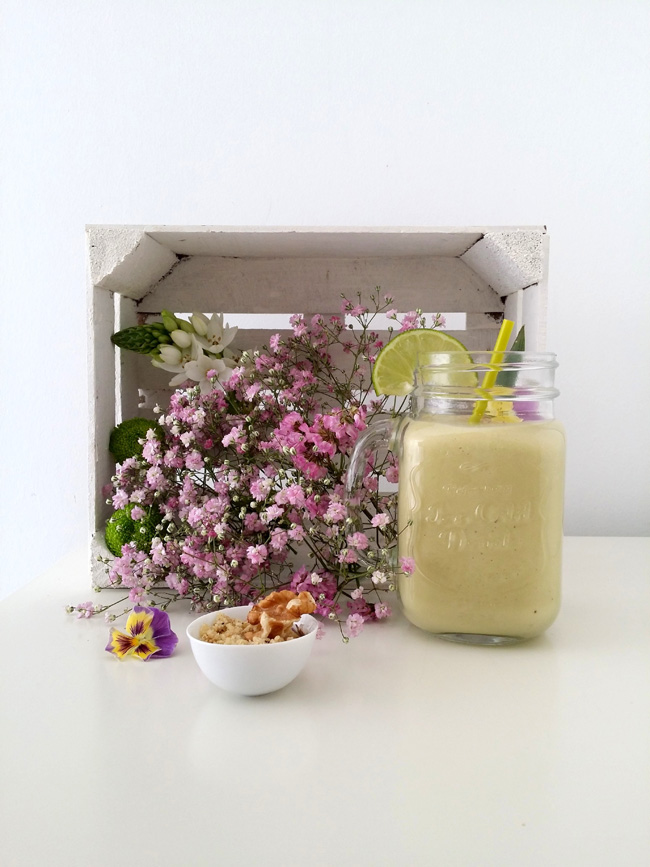 Smoothie nueces de california y margot Serrano
