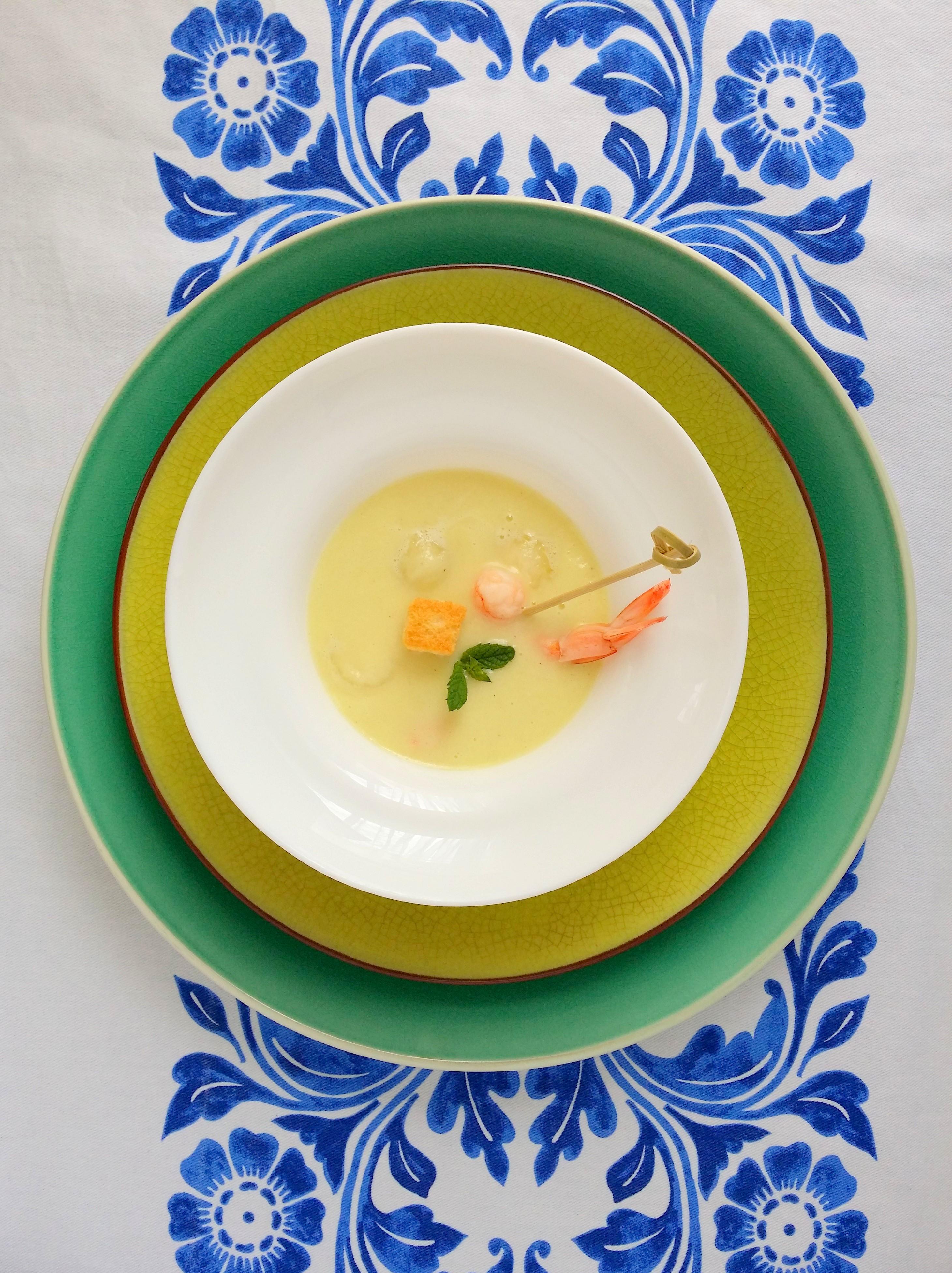 gazpacho de melon y calabacin