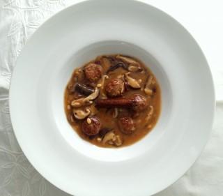 Albondigas con shiitake