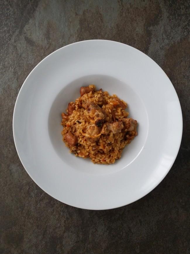 arroz de montaña con rebozuelos