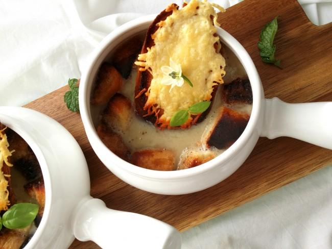 sopa de cebolla rapida