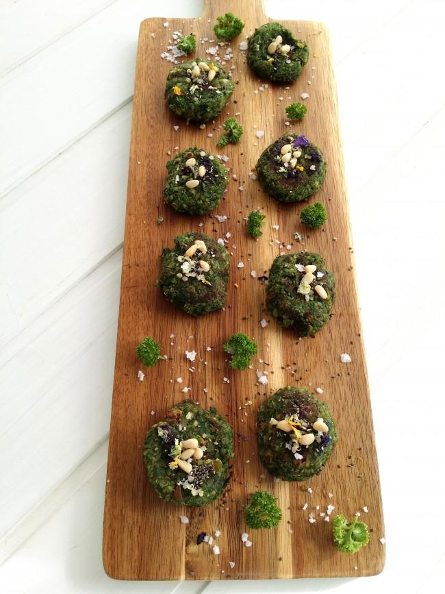 Tortitas de kale y quinoa