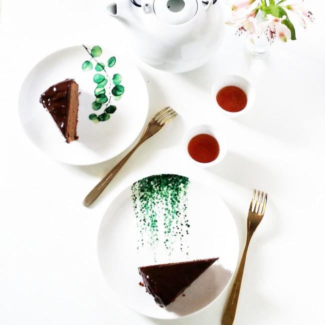 Bizcocho de garbanzos y chocolate